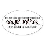 Distaste Sticker (Oval)