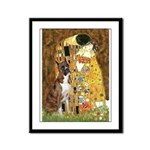The Kiss & Boxer Framed Panel Print