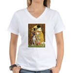 The Kiss & Boxer Women's V-Neck T-Shirt