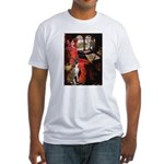 Lady & Boxer Fitted T-Shirt