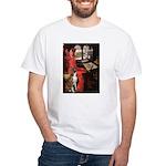 Lady & Boxer White T-Shirt
