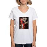 Lady & Boxer Women's V-Neck T-Shirt