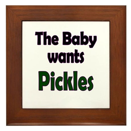 Pregnancy Craving Framed Tile