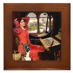 Lady & Boxer Framed Tile