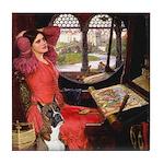 Lady & Boxer Tile Coaster