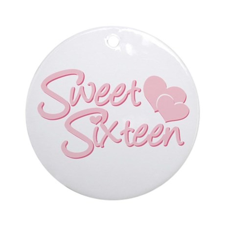 Sweet Sixteen Heart Ornament (Round)