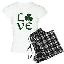 Green Shamrock Love Women'S Light Pajamas