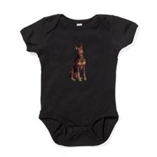 Red Doberman #1 Baby Bodysuit