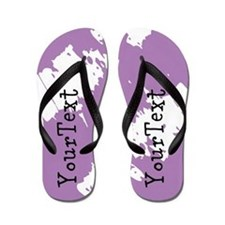 Personalize Purple Flip Flops