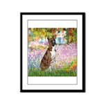 Garden & Boxer Framed Panel Print