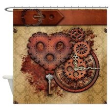 Key of Time and Love Shower Curtain