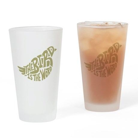 The Bird is the Word (light green) Drinking Glass