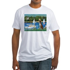 Sailboats & Boxer Fitted T-Shirt
