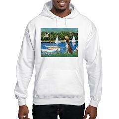 Sailboats & Boxer Hooded Sweatshirt