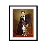 Lincoln & his Boxer Framed Panel Print