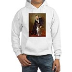 Lincoln & his Boxer Hooded Sweatshirt