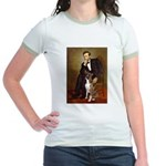 Lincoln & his Boxer Jr. Ringer T-Shirt