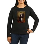 Lincoln & his Boxer Women's Long Sleeve Dark T-Shi