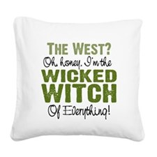 Wicked Witch of Everything GR Square Canvas Pillow