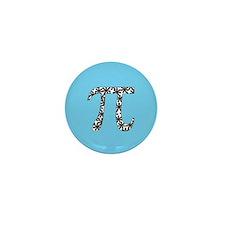 Blue Floral Pi Mini Button (100 pack)