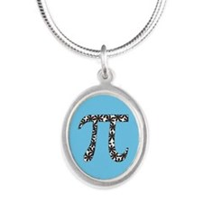 Blue Floral Pi Necklaces