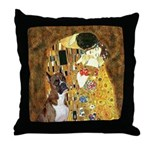 The Kiss & Boxer Throw Pillow