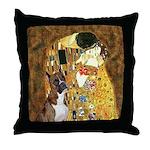 The Kiss & Boxer Throw Pillow