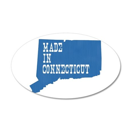 Made In Connecticut 20x12 Oval Wall Decal