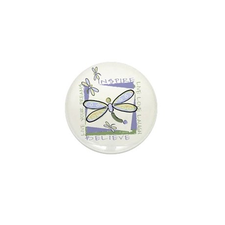 Inspire Dragonflies Mini Button (100 pack)