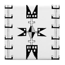 Indian Motifs Tile Coaster