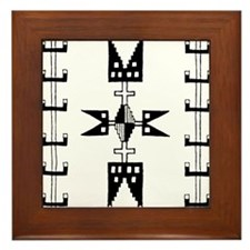 Indian Motifs Framed Tile
