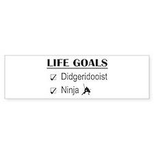 Didgeridooist Ninja Life Go Bumper Sticker