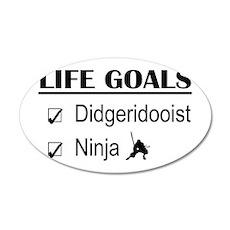 Didgeridooist Ninja Life Goa 35x21 Oval Wall Decal