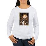 The Queen & her Boxer Women's Long Sleeve T-Shirt