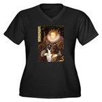 The Queen & her Boxer Women's Plus Size V-Neck Dar