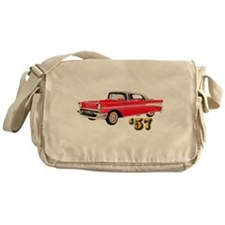 57 Red Chevy Messenger Bag