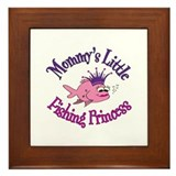 Mommy's Fishing Princess Framed Tile