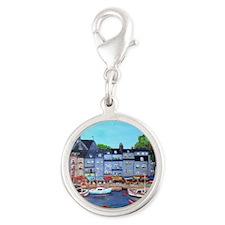 Honfleur, France Silver Round Charm