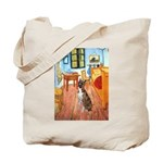 Room with a Boxer Tote Bag