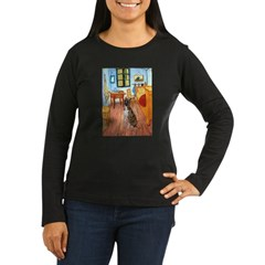 Room with a Boxer Women's Long Sleeve Dark T-Shirt