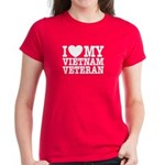I Love My Vietnam Veteran Women's Dark T-Shirt