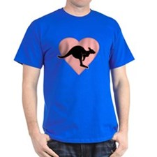 Kangaroo Love Pink Heart T-Shirt