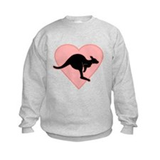 Kangaroo Love Pink Heart Jumper Sweater