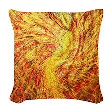 Angel Of Healing Woven Throw Pillow
