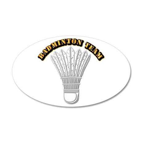 Badminton Team 35x21 Oval Wall Decal