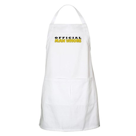 Official Man Whore BBQ Apron
