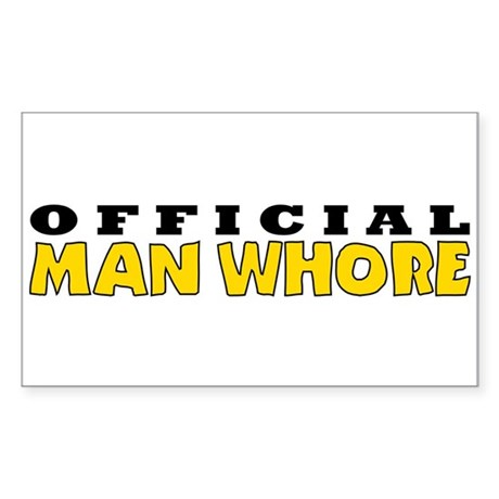 Official Man Whore Rectangle Sticker