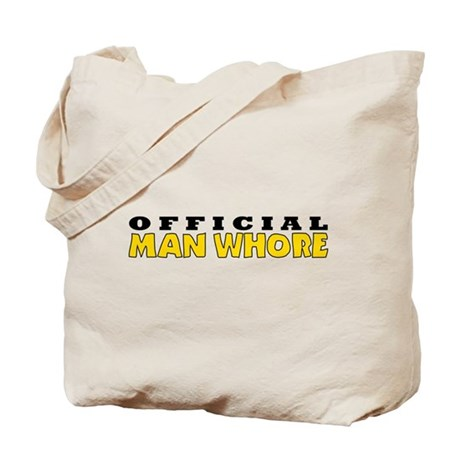 Official Man Whore Tote Bag
