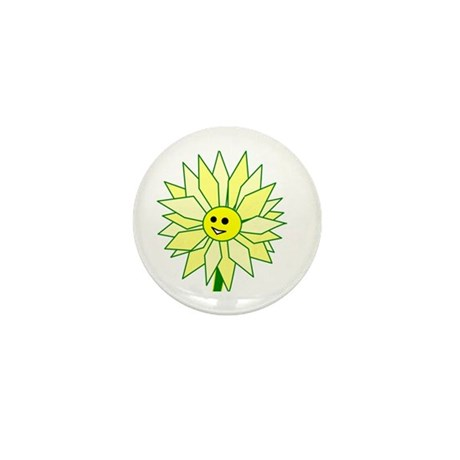 Happy Flower Mini Button (10 pack)