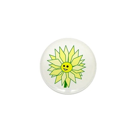 Happy Flower Mini Button